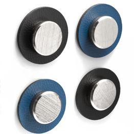 """silwy Metall-Nano-Gel-Pads Ø 5,0 cm mit Magneten """"Smart"""" selbsthaftender Haftgrund für Magnete, wiederverwendbar, mit Kunstlederüberzug, 2er-Set, in verschiedenen Farben"""