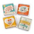 Kühlschrankmagnete mit Sommer-Motiven, 4er Set