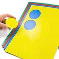 für Whiteboards & Planungstafeln, 12 Symbole pro A4-Bogen, in verschiedenen Farben
