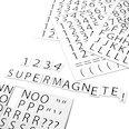 zum Beschriften von Metallregalen, 120 Zeichen pro A4-Bogen, 2-teiliges Set, weiß