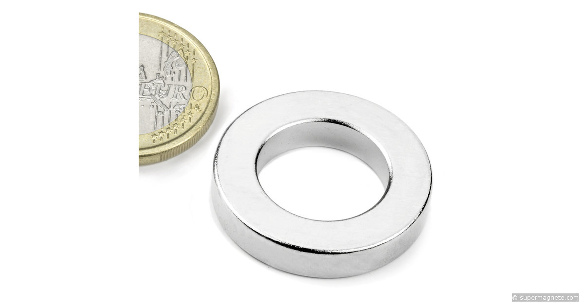 ringmagnete magnetringe magnete mit loch 26 75 x 16 x 5 mm r 27 16 05 n supermagnete. Black Bedroom Furniture Sets. Home Design Ideas