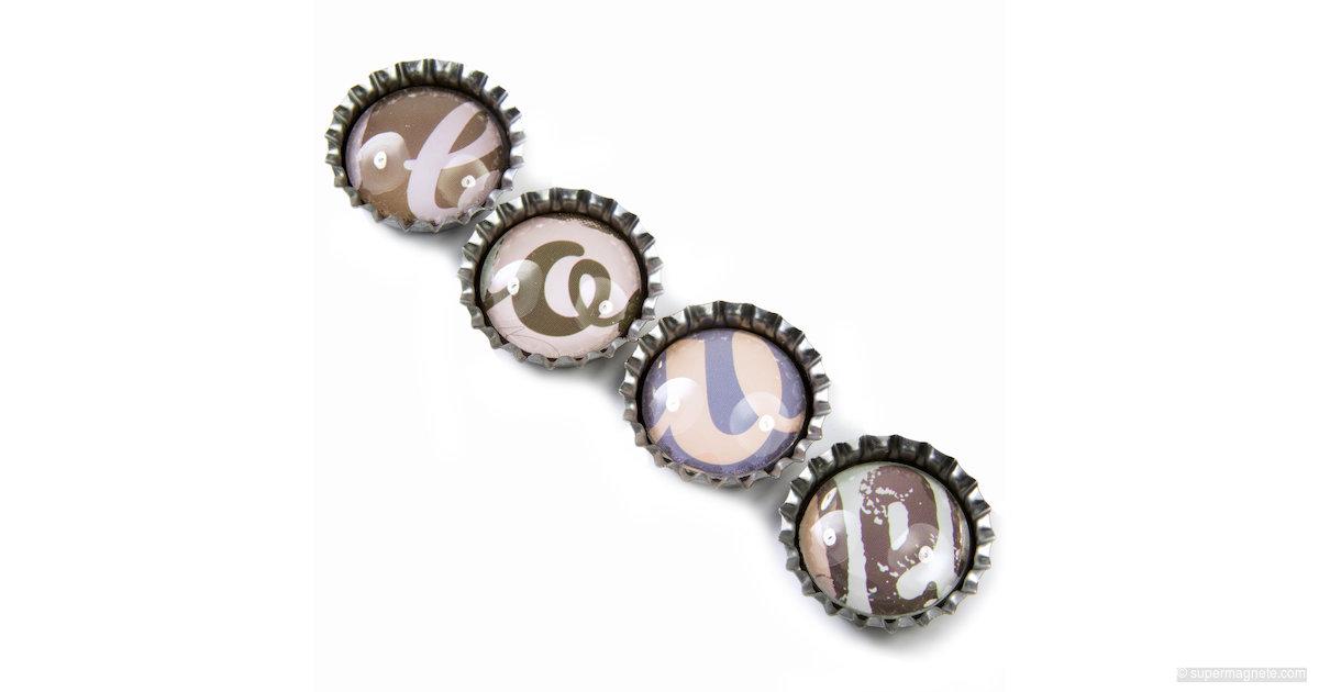 kronkorken 39 love 39 k hlschrankmagnete sale 096 neodym magnete supermagnete. Black Bedroom Furniture Sets. Home Design Ideas