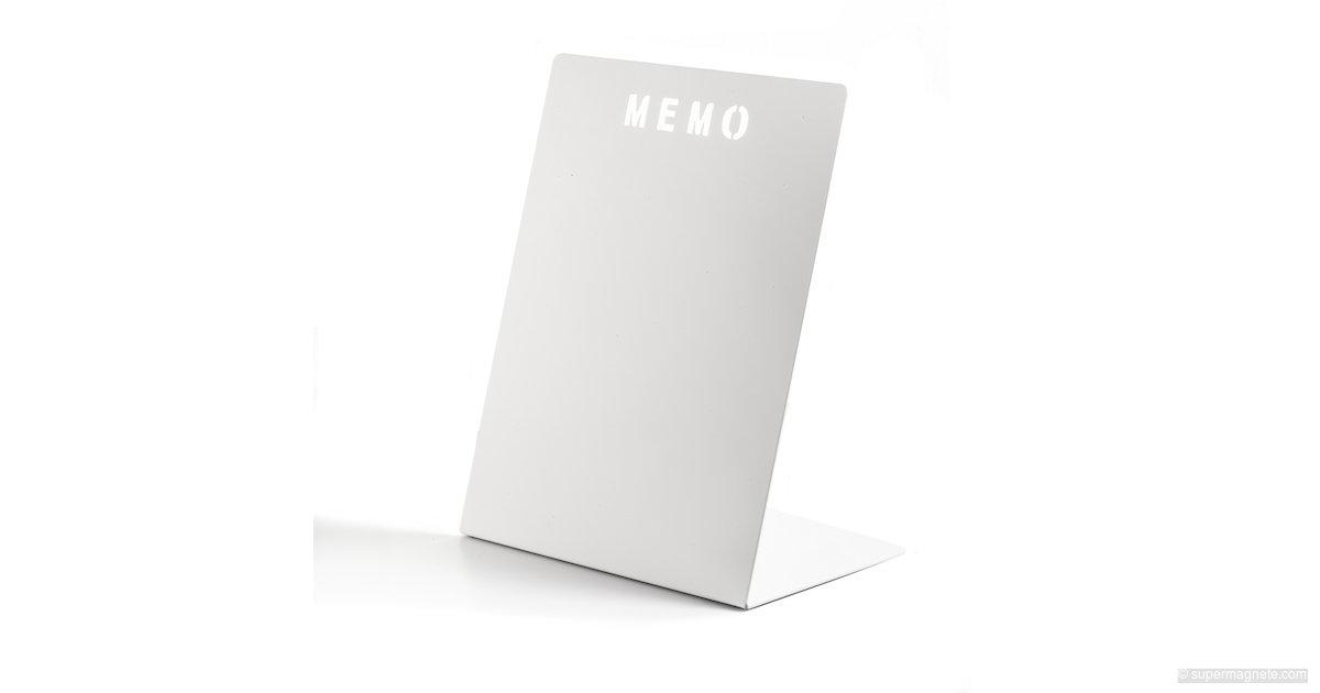 memoboard memo aus metall wei supermagnete. Black Bedroom Furniture Sets. Home Design Ideas