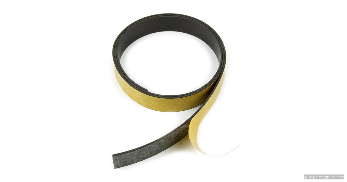 magnetband selbstklebend 20 mm breit supermagnete. Black Bedroom Furniture Sets. Home Design Ideas