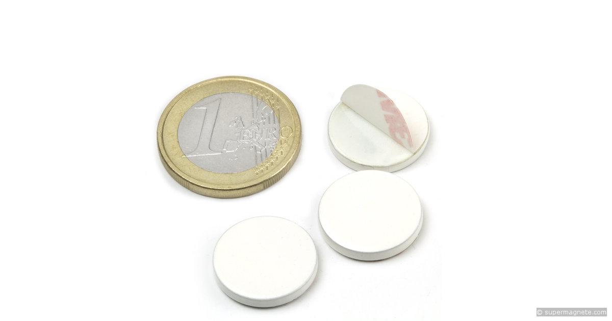 metallscheibe selbstklebend wei gegenst ck f r magnete d 16 mm supermagnete. Black Bedroom Furniture Sets. Home Design Ideas