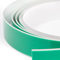 M-FERROTAPE, Metallband selbstklebend weiß, selbstklebender Haftgrund für Magnete, Breite 35 mm