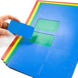 BA-014BR, Magnetsymbole Sprechblase rechteckig, für Whiteboards & Planungstafeln, 10 Symbole pro A4-Bogen, in verschiedenen Farben