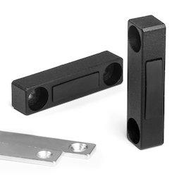 M-FURN-03, Magnetbeschlag schmal für Möbel, aus Metall, mit Gegenplatte