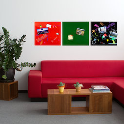 GMBB-4550, Glas-Memoboard quadratisch, 45 x 50 cm, in verschiedenen Farben