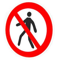 MS-W/nowalking, Verbotsschilder magnetisch, Für Fussgänger verboten