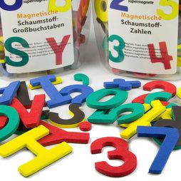 M-38, Buchstaben oder Zahlen, Magnetisches Zeichen-Set, aus EVA-Schaum, 4 Farben gemischt