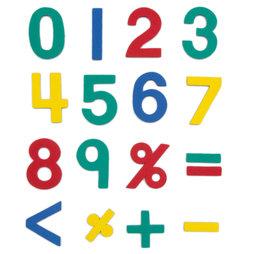 M-38/num, Magnet-Zahlen, ca. 100 Zahlen & Operationszeichen, aus EVA-Schaum, 4 Farben gemischt
