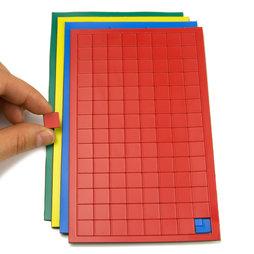 BA-012S, Magnetsymbole Quadrat klein, für Whiteboards & Planungstafeln, 112 Symbole pro Bogen, in verschiedenen Farben